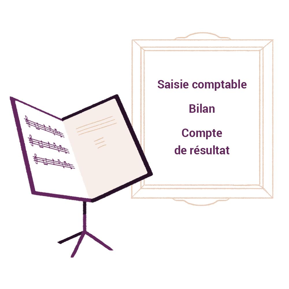 Saisie comptable Bilan Compte de resultat